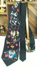 Looney Tunes Mania Valentine's Day Love Heart 100% Silk Necktie