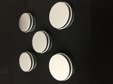 5 x 10ml Aluminium Balm Tin Cosmetic Packaging Craft Pot Jars Nail Art Candle