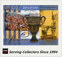 2003 Select AFL XL Ultra AFL/VFL Premiership Commemorative PC3 West Coast 1994