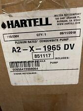 New Hartell 115/230V 1/10 Hp Plenum Plus Condensate Pump A2-X-1965Dv Unused