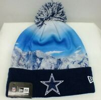 Dallas Cowboys NFL Cuffed Knit Beanie Winter Hat WITH POM TOP NEW