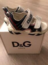 D&G Boys INFANT LEATHER DENIM SNEAKERS Sz 22 Eur / 6 US RTL $190