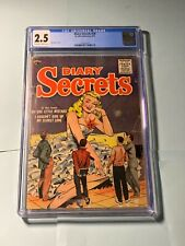 Diary Secrets #30 CGC 2.5 OWW 1955 Classic Matt Baker Cover Super Rare