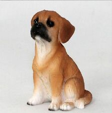 Puggle Mini Hand Painted Figurine Brown