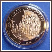 +1880 NATIONAL FARMER/'S ALLIANCE Franklin Mint SOLID BRONZE Medal Uncirculated