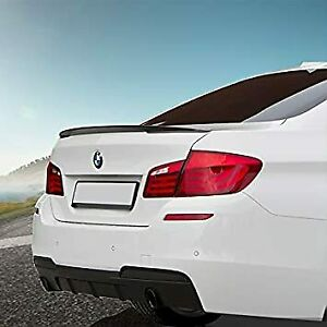 BMW 5 Series F10 4D PAINTED Gloss Black Performance Style Rear Trunk Spoiler