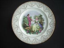 "ALFRED MEAKIN, GLO-WHITE -10"" PLATE -CLASSICAL SCENE -22KT GOLD DECORATION"