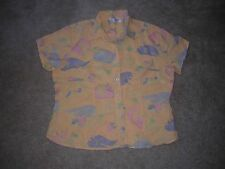 Fresh Produce Top/Shirt Linen Women's Size Large Yellows
