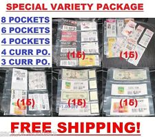 (80) COUPONS SLEEVES PAGES ORGANIZER BINDERS  (8 - 6 - 4 - 4C - 3C POCKET SIZES)