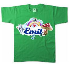 Kinder T-Shirt - Emil - Niedliches Motiv Mädchenname Schmetterling Name Kids