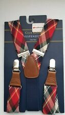 Club Room NEW Blue / Plaid Men's One Size Suspenders .