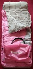 Pink & Grey Childs Junior Ready Bed (Airbed & Sleeping Bag Combined) + Carry Bag