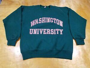 Vintage 90s Jansport Reverse Weave Washington University Green Sweatshirt Large