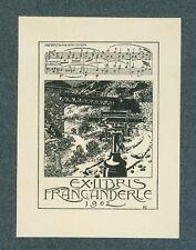 Ex Libris Bookplate for Fran Canderle 1902