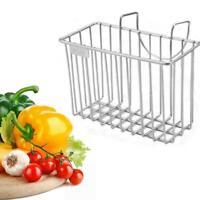 Stainless Steel Kitchen Sink Sponge Holder Brush Soap Rack Basket Storage Z1Y5
