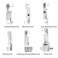 11Pcs Inländisches Säumen Tuch Nähfuß Teile Nähmaschine Säumer Füße