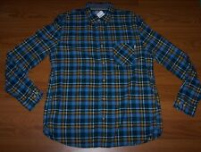 Size XL Mens Slim Fit Timberland Flannel  Button-Front Shirt
