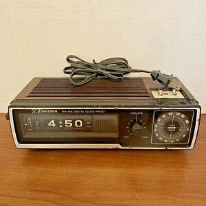Vintage 70'S EMERSON DCF-80 AM/FM Roller Flip Clock Radio TESTED WORKS GREAT EUC