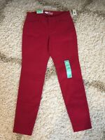 NEW NWT - Old Navy THE PIXIE Ankle Length Dark Red Women's Size 0 NWT