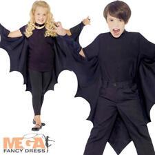 Vampire Bat Wings Cape Boys Girls Kids Halloween Fancy Dress Costume Accessory
