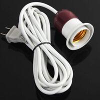 Home E27 Edison Screw Light Lamp Bulb Holder Cable Cords Socket Switch Power Cap