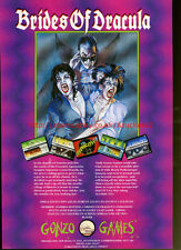 "Brides Of Dracula ""Gonzo Games"" 1992 Magazine Advert #5708"
