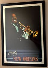 Jazz New Orleans Movie Poster Louis Armstrong By John Ireland 1978 Framed
