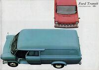 Ford Transit Mk1 1967 UK Market Foldout Sales Brochure SWB LWB Van Bus Kombi