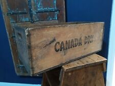 Antique Vintage Canada Dry Drinks Bottle Crate Rustic Storage Solid Wood