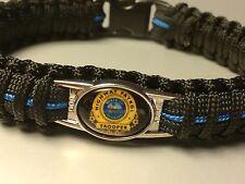 Thin Blue Line *  Paracord Bracelet * Florida Highway Patrol  * Blue & Black *