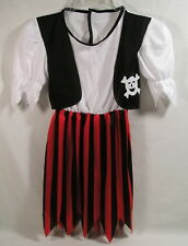 Halloween Costume Girls Pirate Dress by Rubies size Small, Black Red Skirt Vest