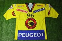 SC BERN # 96 DUBE SWISS RARE ICE HOCKEY SHIRT JERSEY YVETTE INTERHOCKEY ORIGINAL