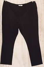 HSN RHONDA SHEAR JERSEY KNIT LOUNGE PANTS BLACK ELASTIC WAIST 3X WEAR ANYWHERE