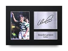 HWC Trading Henrik Larsson Gift Signed A4 Printed Autograph Celtic Gifts Print