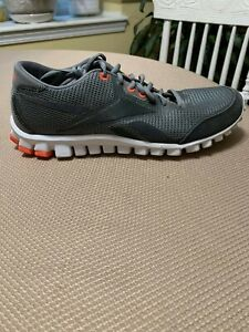 Reebok Realflex Train Running Shoes Gray/Grey and Orange ~ Men's Size 9 Athletic