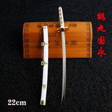 One Piece Roronoa Zoro Wado Ichimonji Sword  Japanese katana  23cm white #2