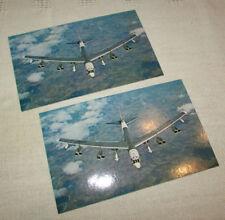 1966 Boeing Usaf B-52 Hound Dog Missile Launcher Wichita Rare postcard Lot of 2