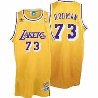 Dennis Rodman #73 Los Angeles Lakers Classic Gold Swingman Jersey NEW