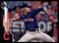 2020 Topps Series 2 Base Black #390 Emmanuel Clase /69 - Cleveland Indians