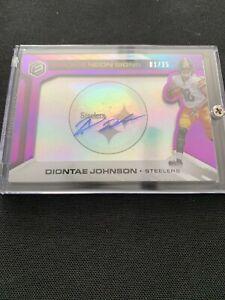 Steelers Rookie Auto- Diontae Johnson- Purple Neon- #'d 01/25