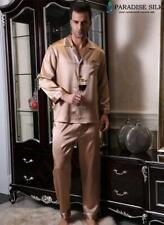 Pure 19MM Silk Mens Pajamas Top and Bottom Set Pyjamas Set