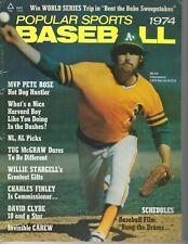 1974 Popular Sports baseball magazine Jim Catfish Hunter, Oakland Athletics GOOD