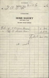 1926 Manhattan Montana (MT) Home Bakery Jake