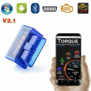 ELM327 OBD2 V2.1 Bluetooth Car Diagnostic Scanner Android Torque Auto Scan Tool