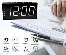 Loud LED Digital Alarm Clocks for Bedrooms Bedside with Snooze Digital Clock fo