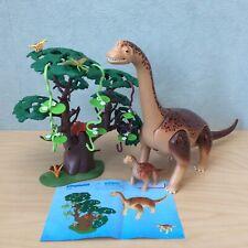 Playmobil 5231 Large Brachiosaurus Dinosaur With Baby 100% Complete Set - Large