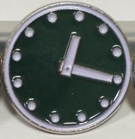 """Chicago Cubs GREEN CLOCK Scoreboard Metal Cast Enamel Lapel Hat Pin 1"""" Size"""
