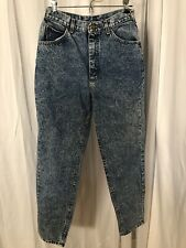 Vtg 80s Lee Riders Acid Wash High Waisted Mom Jeans Usa Made Size 12M 28� Waist