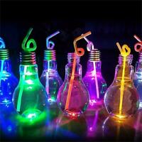 Stylish Plastic Light Bulb Shaped Bottle Drink Cup Water Bottle Party Decor Hot