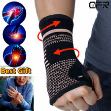 Copper Wrist Hand Brace Support Fit Carpal Tunnel Splint Strap Sprain Arthritis.